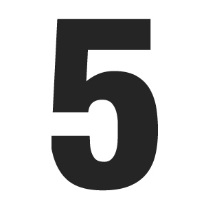 number-solid-5
