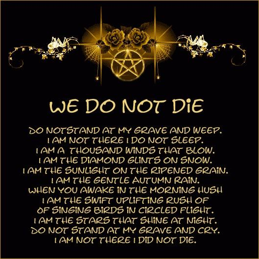 we do not die